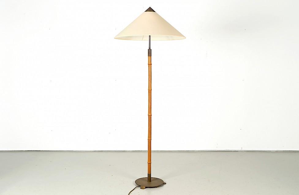 Vintage Bamboo Floor Lamp