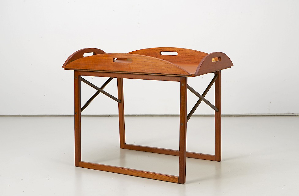 Teak and Brass Tray Table by Svend Langkilde